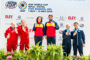 ISSF World Cup Rifle/Pistol 2018 - Fort Benning, GA, USA - Final 10m Air Pistol Mixed Team
